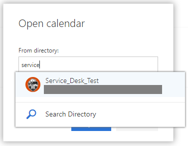 Search Directory box is shown.