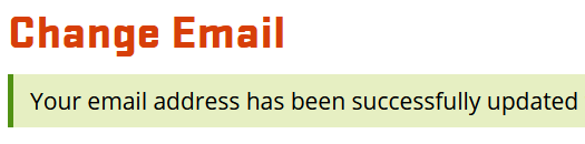 Email change confirmation