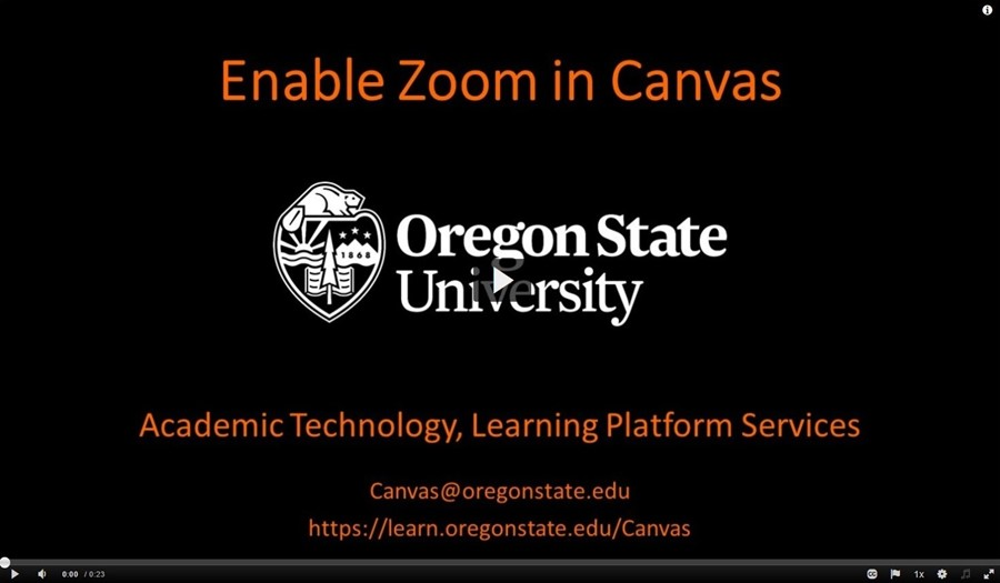 Enable Zoom in a Canvas course