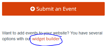 submit an event - widget builder link