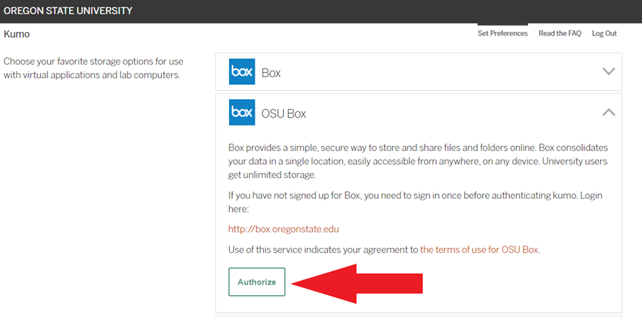 Arrow pointing to Authorize button.