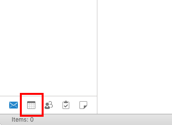 Calendar menu option is highlighted.