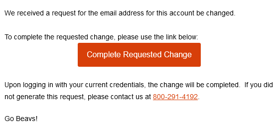 Update email address email