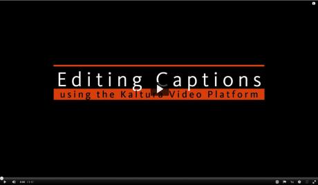 Editing Captions
