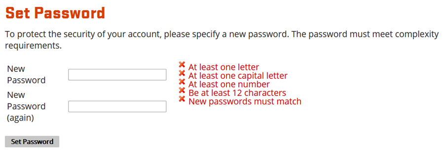 Beaver Basecamp Set Password