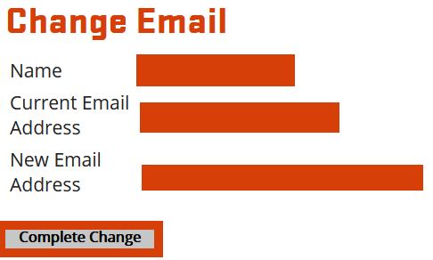 Complete email change
