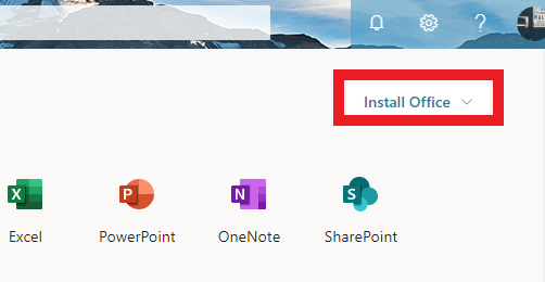 Install Office button is highlighted.